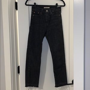 Levies wedge straight jeans